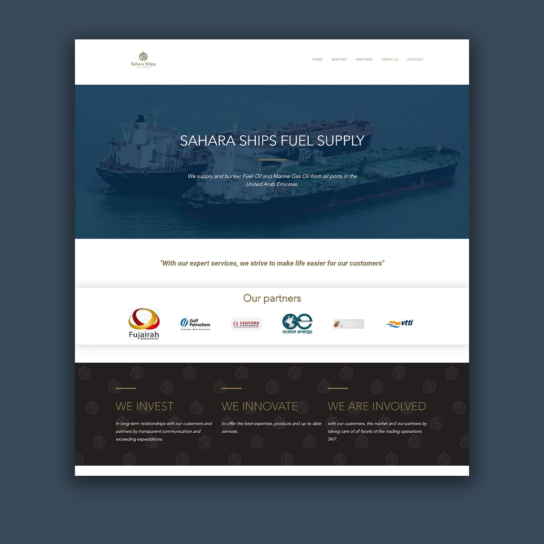 Sahara Ships Fuel Supply website
