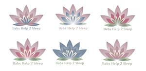 Logo colour study Babs' help 2 sleep