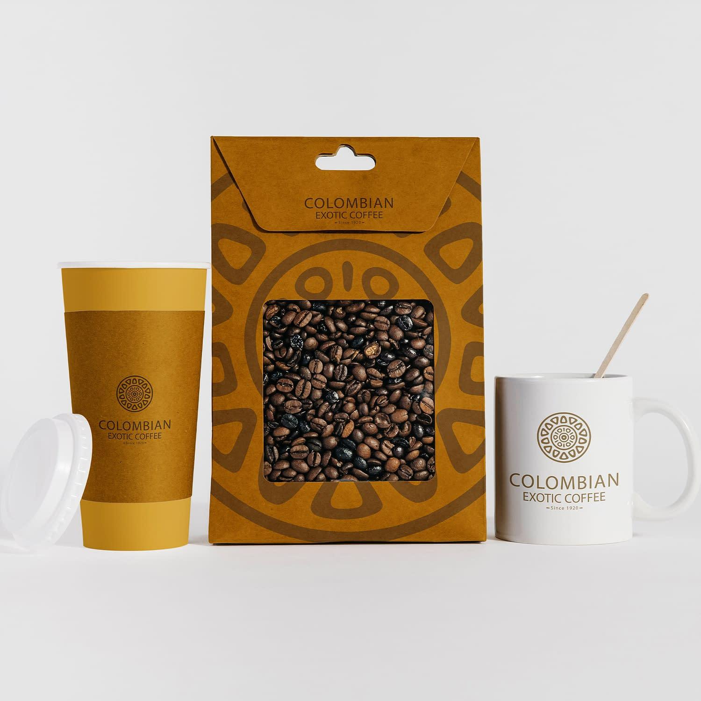 Colombian Exotic Coffee brandapplication