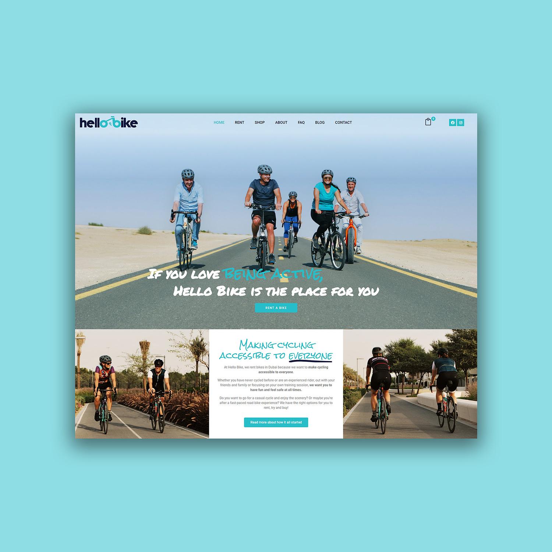 website design for Hello Bike