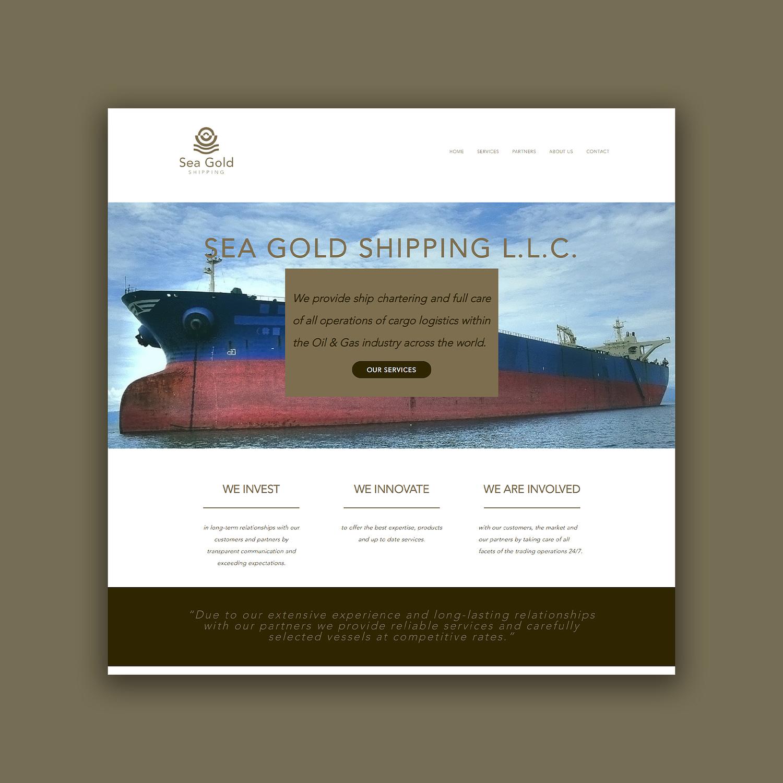 Sea Gold Shipping website