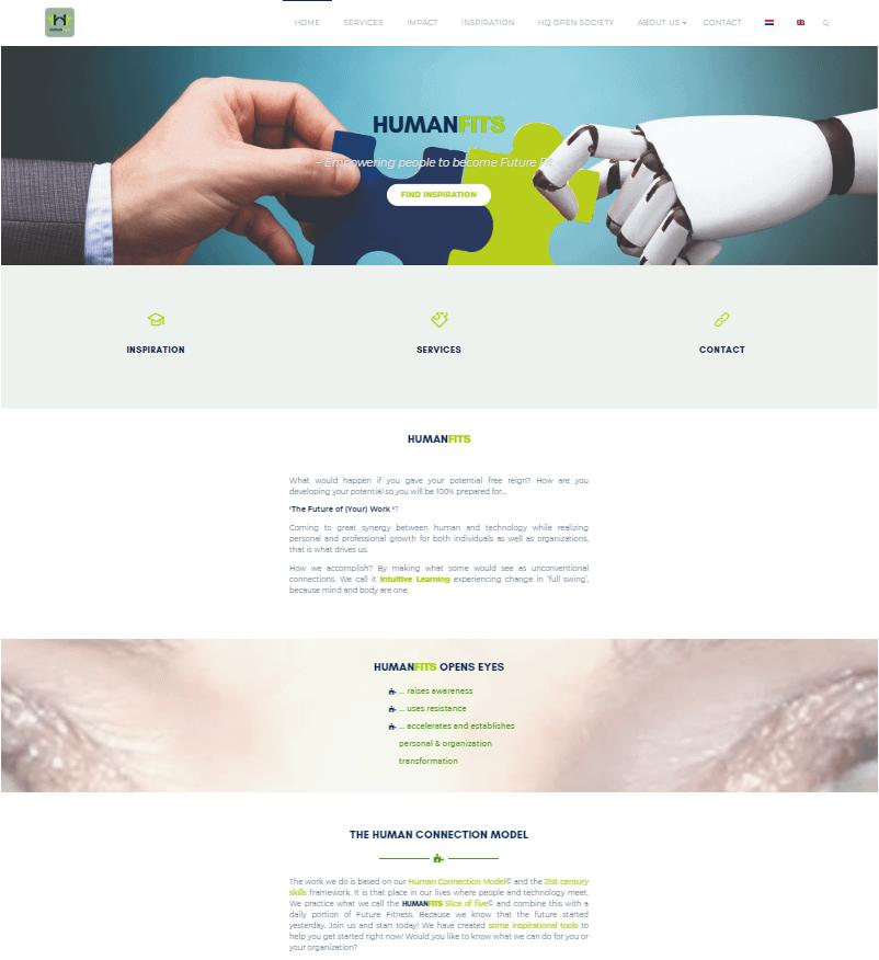 Human Fits homepage