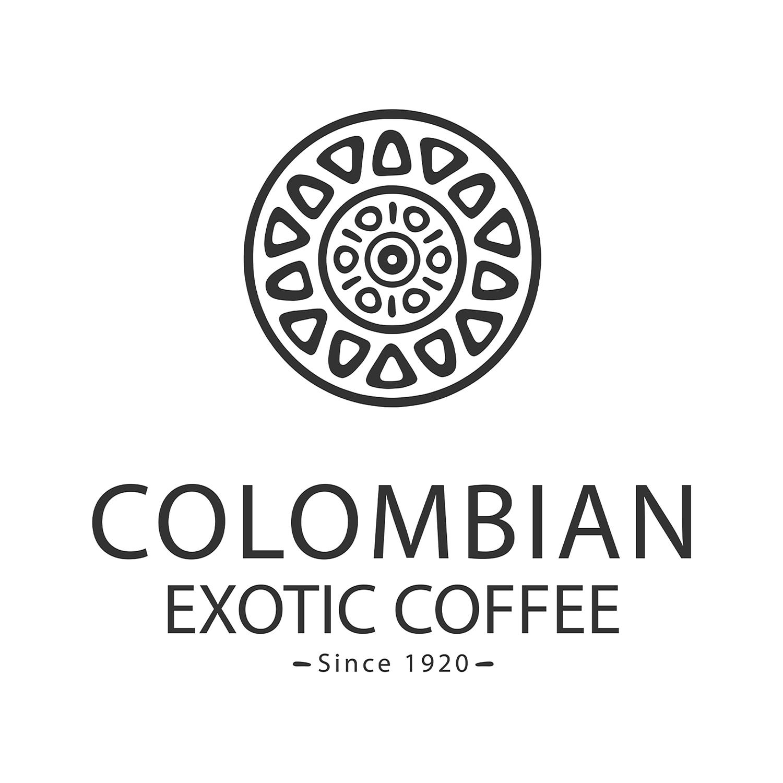 Colombian Exotic Coffee logo - black