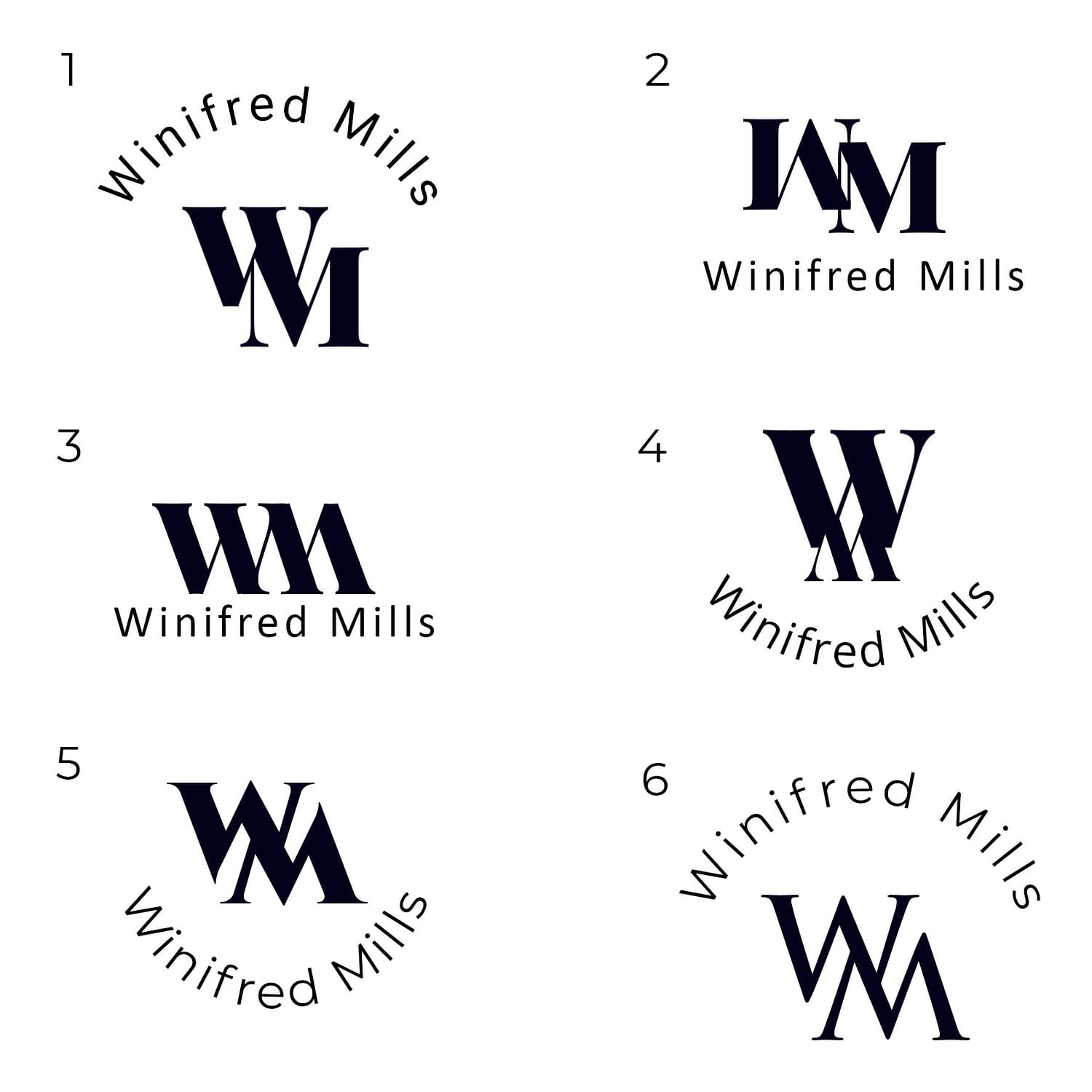 winifred mills_logo compositions