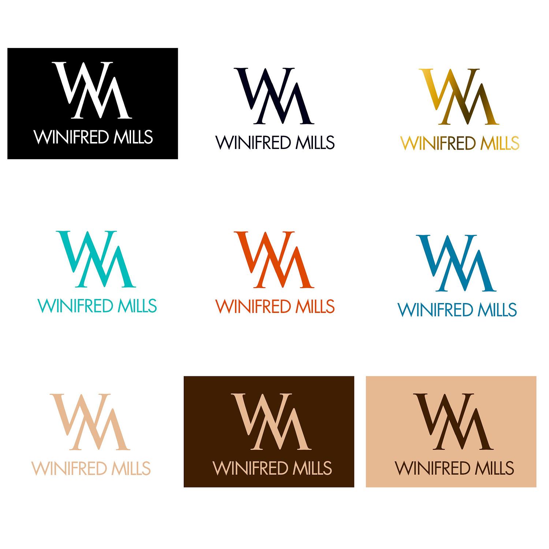 winifred mills logo colour study
