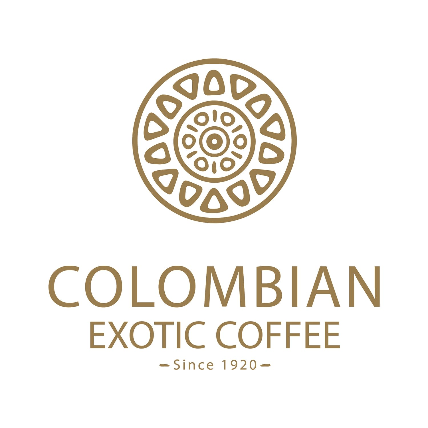 Colombian Exotic Coffee logo - gold